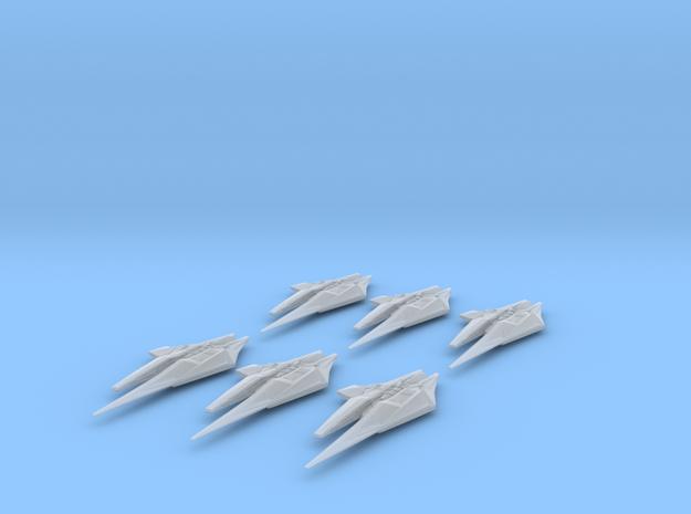 NR Var'Nic Long Range Destroyer 6-pack Full Thrust in Smooth Fine Detail Plastic
