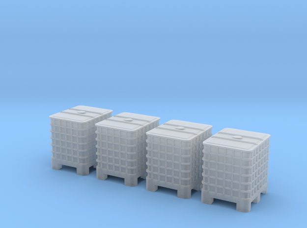 1:72 IBC 4pc in Smooth Fine Detail Plastic