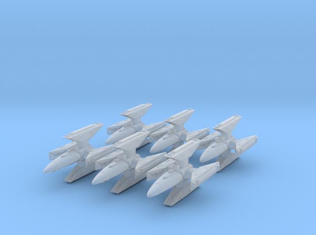Centauri Republic Kutai Gunship x6 25mm in Smooth Fine Detail Plastic