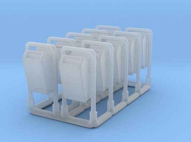Parkmülleimer doppelt 1zu160 10x in Smooth Fine Detail Plastic