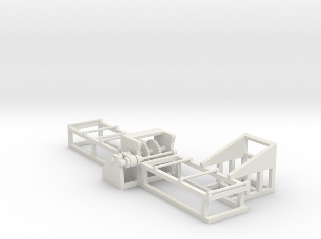 Saw 2 - HO 87:1 Scale in White Natural Versatile Plastic