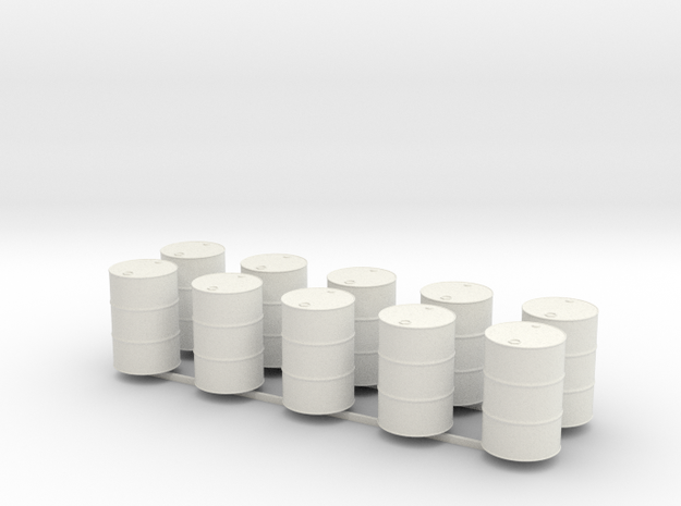 28mm oil barrel x10 in White Natural Versatile Plastic