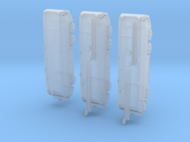 1:400 Oshkosh 6x6 Strikers x 3 in Smooth Fine Detail Plastic