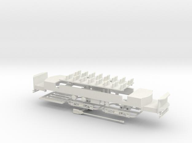 "#87-2401 Osgood-Bradley ""Electromobile"" frame in White Natural Versatile Plastic"