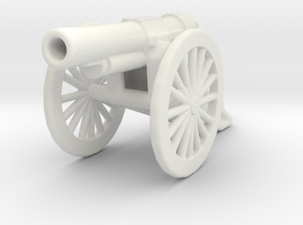 bl 6 inch 30 cwt howitzer 1/72  ww1 artillery in White Natural Versatile Plastic