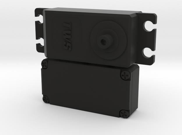 Low-profile Servo Dummy in Black Natural Versatile Plastic