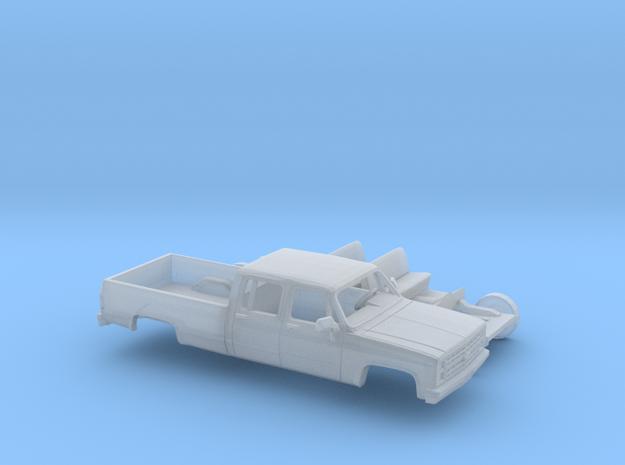 1/87 1980-88 Chevrolet Silverado CrewCab Kit in Smooth Fine Detail Plastic