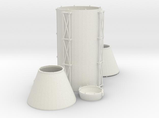 Space Station Basic Kit1 Multipurpose Section in White Natural Versatile Plastic