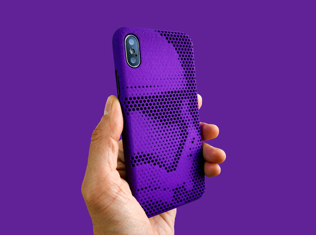 iPhone X case_Stormtrooper Force Awakens in Purple Processed Versatile Plastic