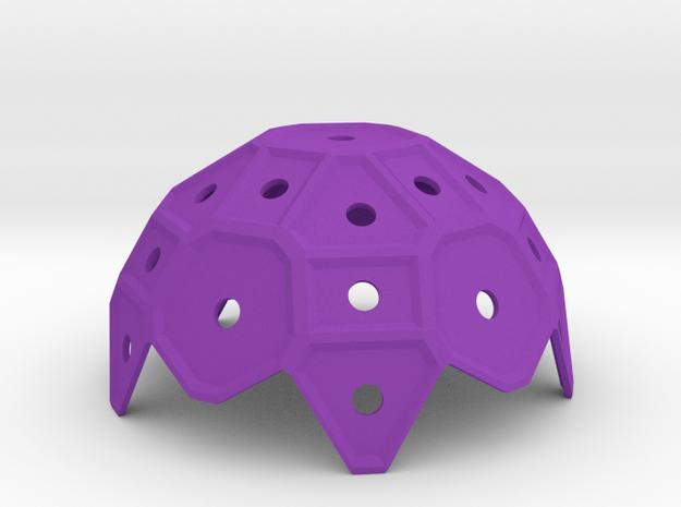 Pentaround_2 in Purple Processed Versatile Plastic