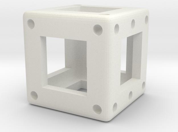 DICE - D6 - 1 cm in White Natural Versatile Plastic