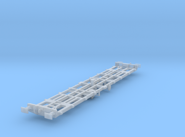 CIE 42ft LP Container Flat Wagon [A-5] square buff in Frosted Ultra Detail