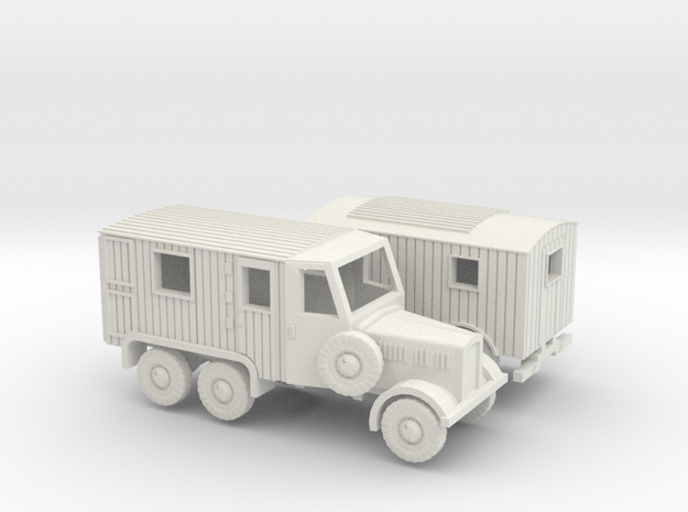 1/144 Radio truck on Einheitsdiesel in White Natural Versatile Plastic