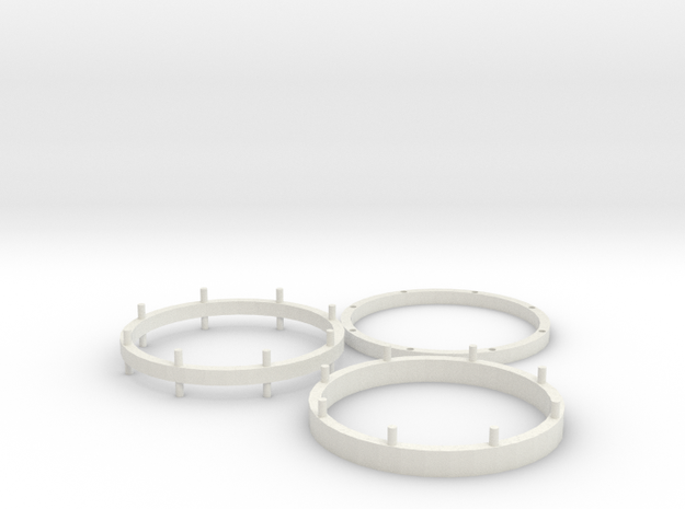 Space Station Basic Kit1 Connection Adapters in White Natural Versatile Plastic