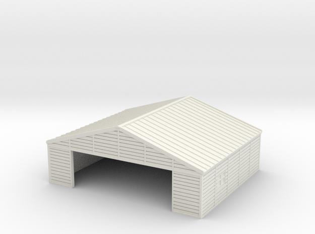 1:285 Wooden Hangar 1 in White Strong & Flexible