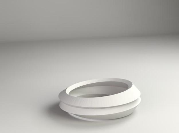 Eight Ellipses Ring in Stainless Steel