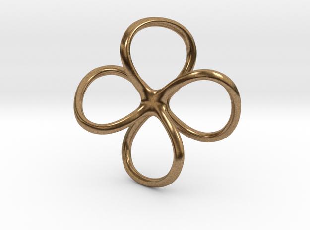 Aubreita pendant necklace in Natural Brass