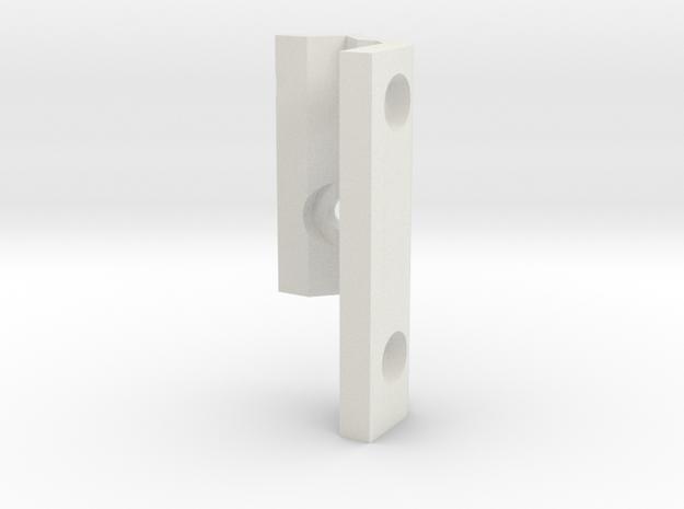 Prusa I3 MK3 Filament guide  in White Natural Versatile Plastic