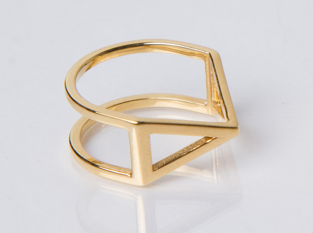 Ring - Pirámi in 14k Gold Plated Brass: 6 / 51.5