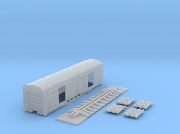 KCR mail car HO scale in Smooth Fine Detail Plastic