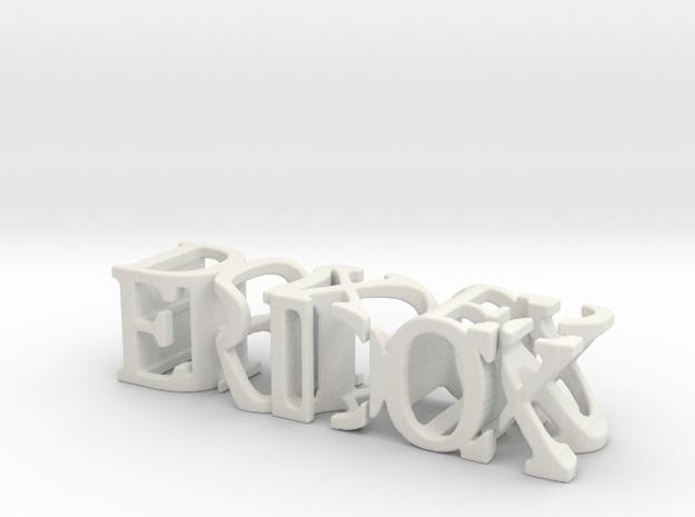 3dWordFlip: ERIDOX/DOXIES in White Natural Versatile Plastic
