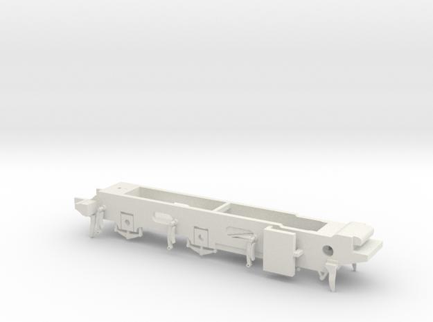 LB&SCR E2 - 10mm - Gauge 1 - 42mm BtoB - Chassis in White Natural Versatile Plastic