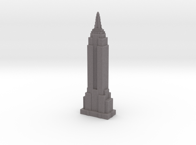 Empire State Building - Gray w Gray Windows in Full Color Sandstone