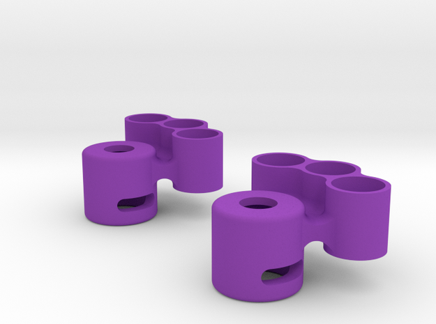 Lockout with tungsten weight holder in Purple Strong & Flexible Polished