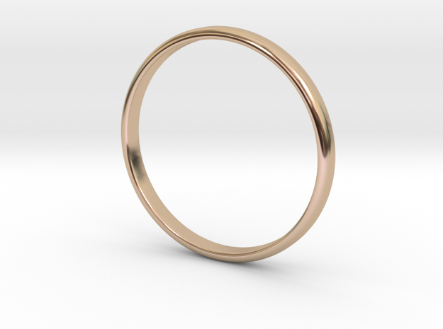 Lonely Band (Various Sizes) in 14k Rose Gold