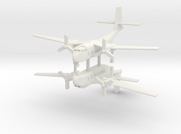 1/200 DHC-4A Caribou (x2) in White Natural Versatile Plastic