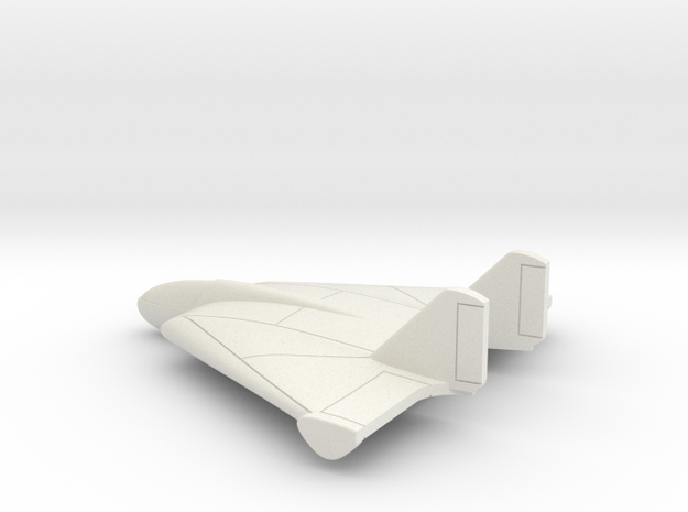(1:144) Lippisch Li P.13b  in White Natural Versatile Plastic