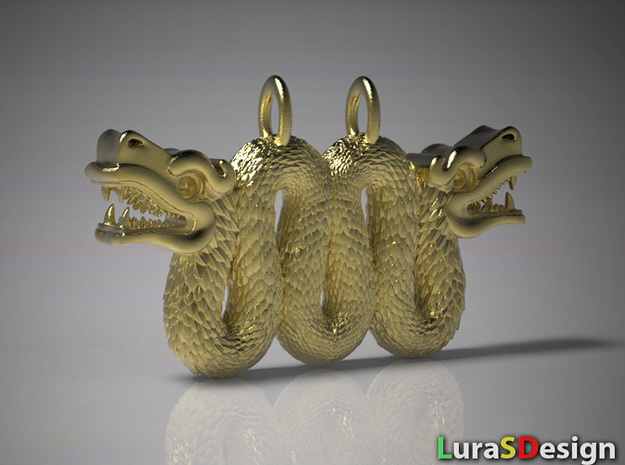 Double Serpent Pendant