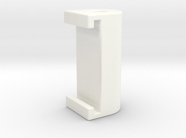 1 1-8 Guide Guide Post v1 in White Processed Versatile Plastic