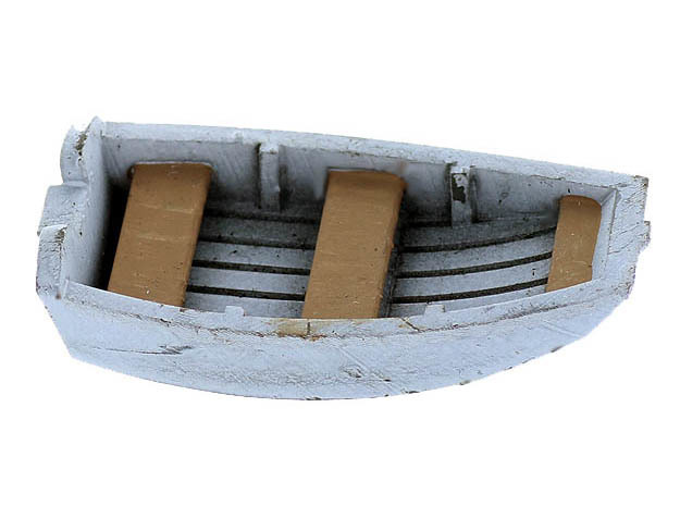 Dinghy Boat N Scale in Smooth Fine Detail Plastic