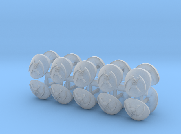 Commission 20 Shoulder Pad icons x20 in Smooth Fine Detail Plastic