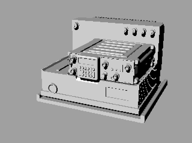 Harris radio AN/VRC-103 with AN/PRC-117 in Smoothest Fine Detail Plastic
