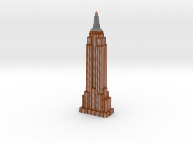Empire State Bulding - Chocolate w White Windows in Full Color Sandstone