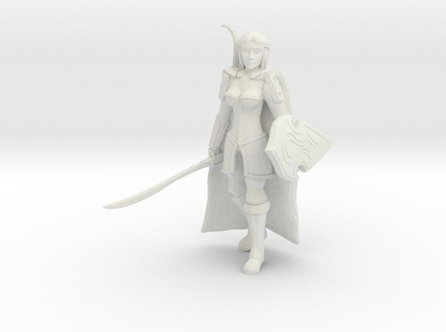 Elf Fighter in White Natural Versatile Plastic