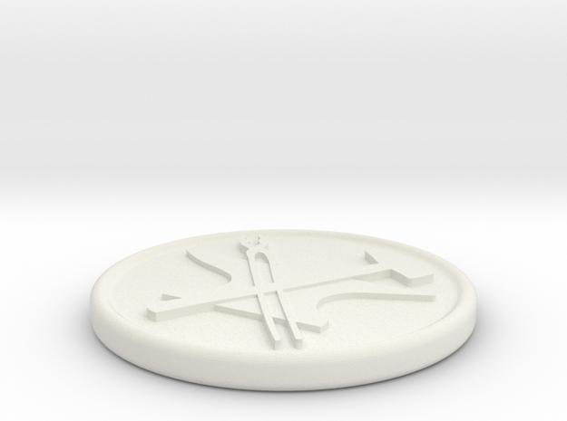 Custom Medallion 2 in White Natural Versatile Plastic