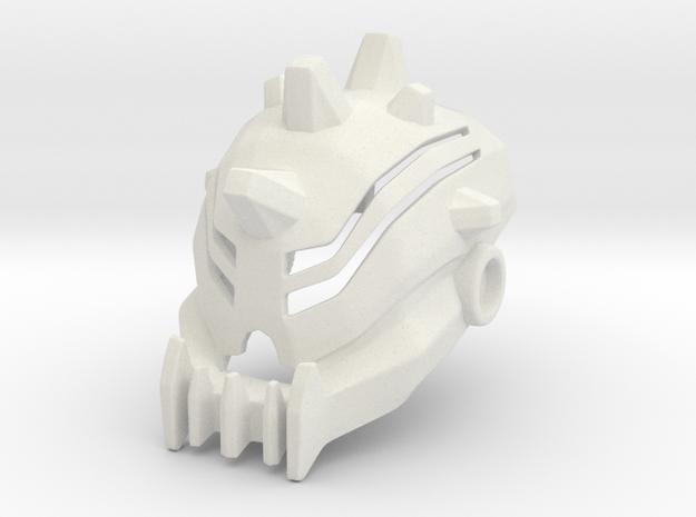 Baterra Head/Helmet in White Natural Versatile Plastic