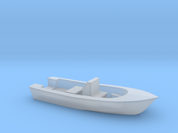 Center Console Fishing Boat HO Scale in Smooth Fine Detail Plastic