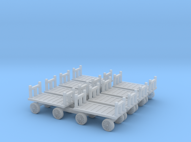 Baggage Cart N Scale Luggage Carts in Smooth Fine Detail Plastic