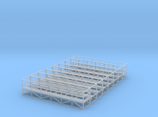 1/64 Handrail Catwalk 8pc in Smooth Fine Detail Plastic