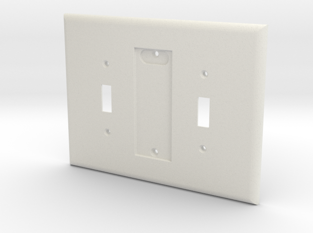 Philips Hue Dimmer 3 Gang Switch Plate in White Natural Versatile Plastic
