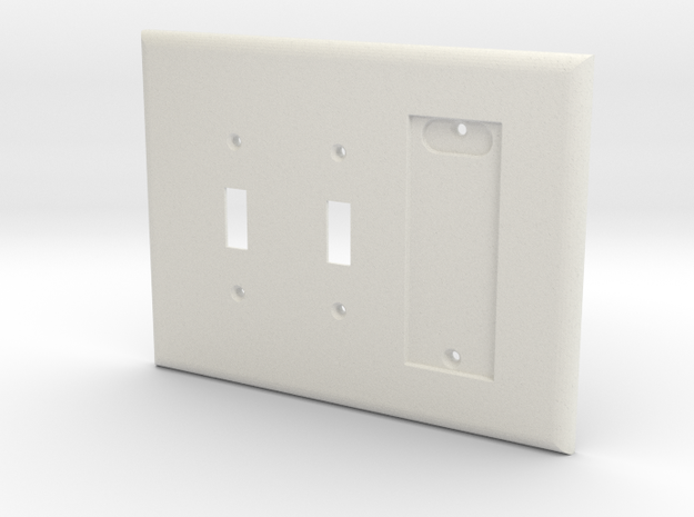 Philips Hue Dimmer 3 Gang Switch Plate R in White Natural Versatile Plastic