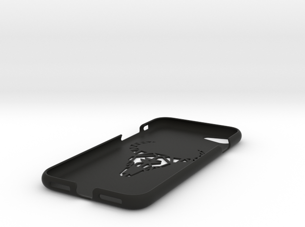 Iphone 7 Case, Geometric Bull in Black Natural Versatile Plastic