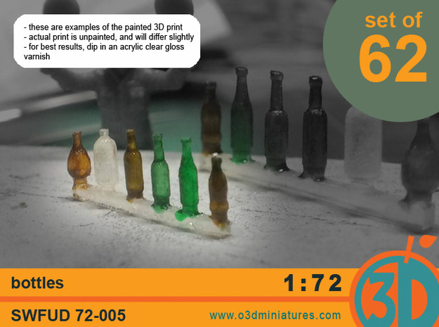 Bottles 1/72 scale SWFUD-72-005 in Frosted Ultra Detail