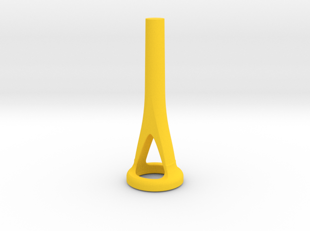 Horn Cut-Away Mouthpiece Trainer - 0.67 Inch ID in Yellow Processed Versatile Plastic