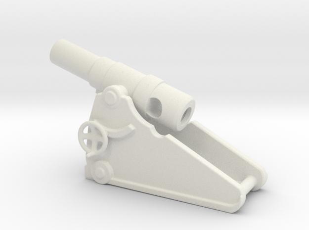 russian heavy 8 inch cannon m 1877 1/72  in White Natural Versatile Plastic