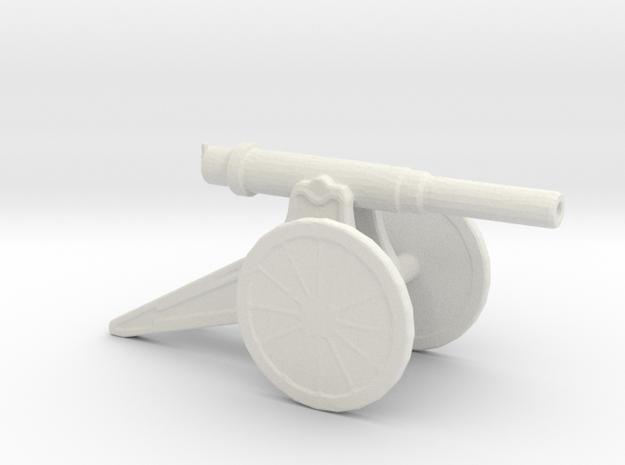 152mm 120 Pood M1877 Siege Gun 1/144 in White Natural Versatile Plastic